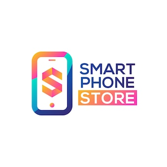 Smart phone store logo vector
