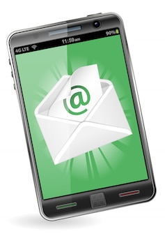 Smart phone with e-mail