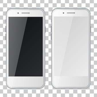 Смартфоны с черными и пустыми экранами изолировали иллюстрацию