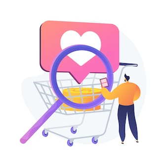 Smart retail abstract concept illustration