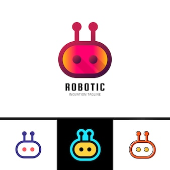 스마트 로봇 로고 템플릿