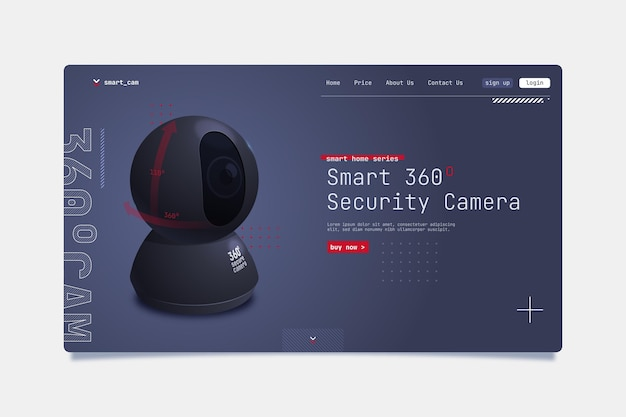 Smart security camera landing page template