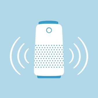 Smart speaker. home personal voice assistant. hand drawn vector illustration