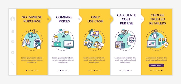 Smart spender tips onboarding  template