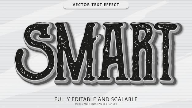 Smart text effect editable eps file