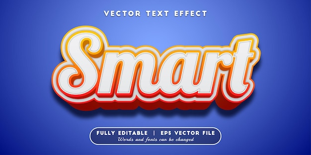 Smart text effect, editable text style