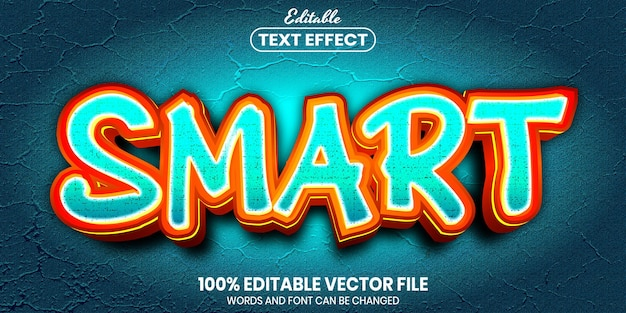 Smart text, font style editable text effect