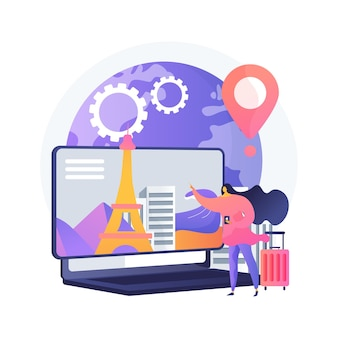 Smart tourism system abstract concept illustration