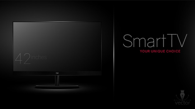 Smart tv, ready advertising template.