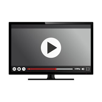 画面にビデオプレーヤーを備えたスマートテレビ