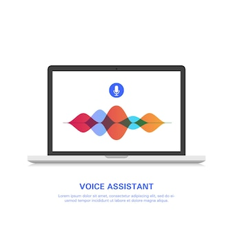 Smart voice assistant on the computer.