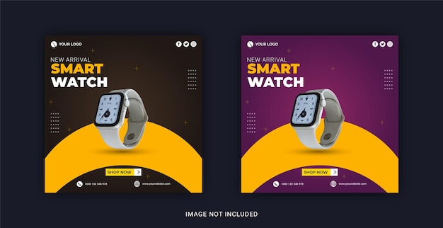 Smart watch collection social media post instagram banner template