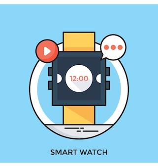 Иконка smart watch flat icon