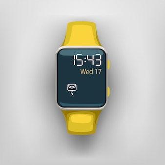 Smart watch on grey background