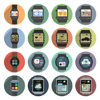Smart watch icons