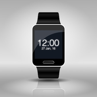 Smart watch mock up isolated on white