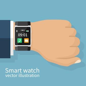 손목에 스마트 시계