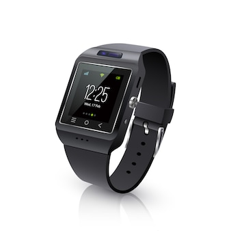Smart watch realistic image black