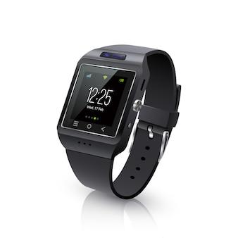 Smart watch realistic image черный