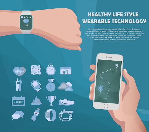 Smart watch and smartphone fitness