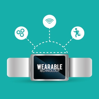Smart watch wearable technology trendy connection