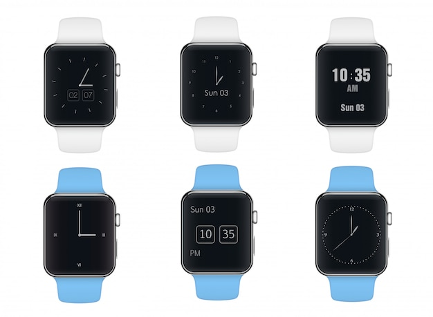 Smart watch with different dials