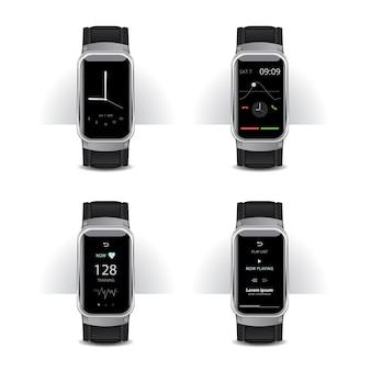 디지털 디스플레이 세트가있는 스마트 시계