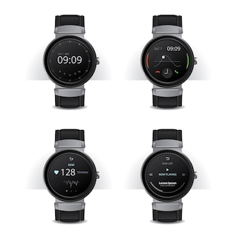 Smart watch with digital display set