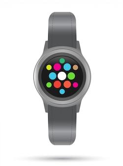 スマートな時計アイコン。スマートガジェット。