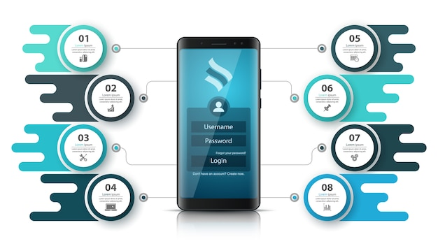 Smartfone business infographic. business graphic.
