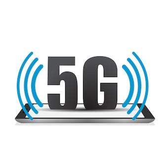 スマートフォン5gシンボルワイヤレスインターネットwifi接続第5世代の革新的なグローバル