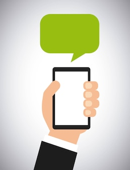 Smartphone and speech bubble