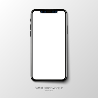 Smartphone application screen mockup on grey baclground