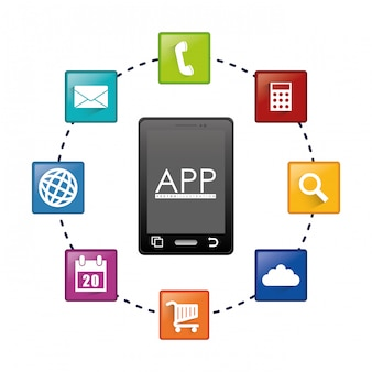 Smartphone applications design.