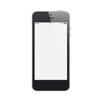 흰색 절연 빈 터치 스크린 보호기와 스마트 폰 블랙 매트 색상