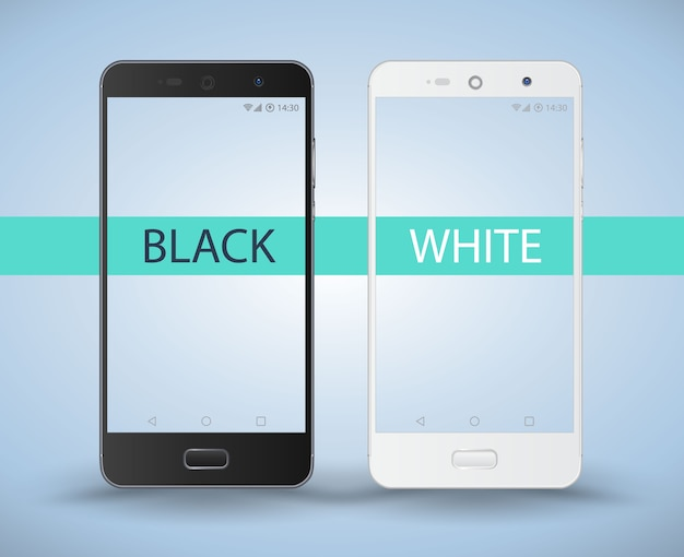 Smartphone black and white.