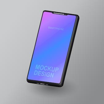 スマートフォンの空白の画面、電話のモックアップ、インフォグラフィックまたはプレゼンテーションデザインインターフェイスのテンプレート