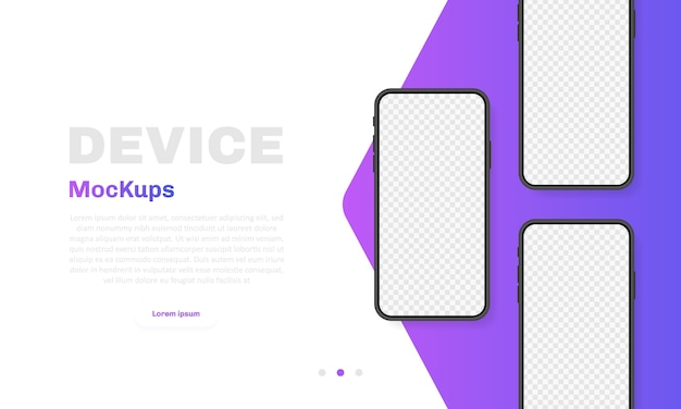 Smartphone blank screen, phone . new phone model. template for infographics for presentation ui  interface.  illustration.