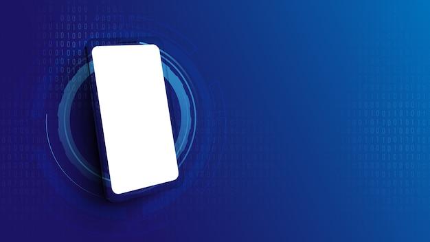 スマートフォンの空白の画面。
