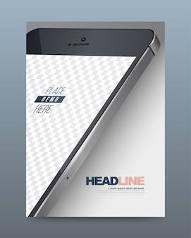 Шаблон дизайна листовки для смартфонов