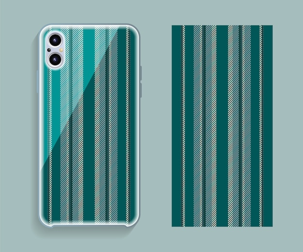 Smartphone case design. geometric pattern for mobile phone back side