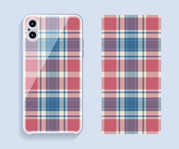 Smartphone case design. scottish pattern for mobile phone back side