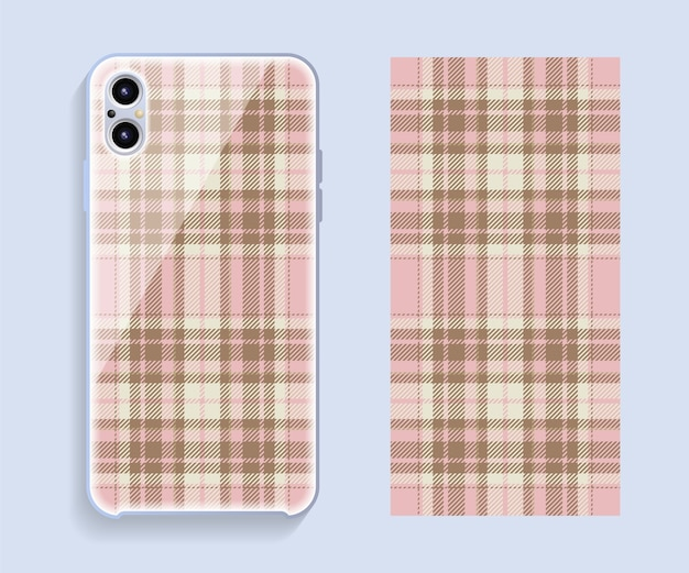 スマートフォンカバーのデザイン。携帯電話の背面部分のテンプレートの幾何学模様。フラットなデザイン。