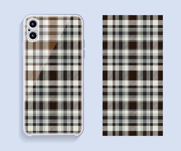 Smartphone cover design. template pattern for mobile phone back part.