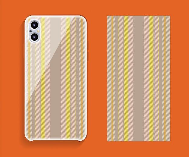 Smartphone cover tartan pattern
