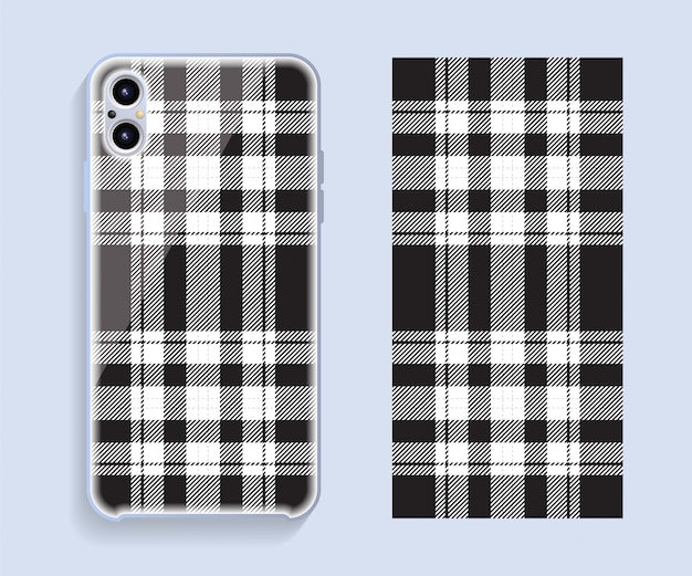 Smartphone cover   . template geometric pattern for mobile phone back part. flat design.