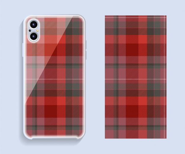 Smartphone cover   . template geometric pattern for mobile phone back part.