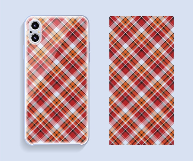 Smartphone cover. template geometric pattern for mobile phone back part.