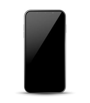 Smartphone design front isolated. mobile phone mockup concept. vector illustration.