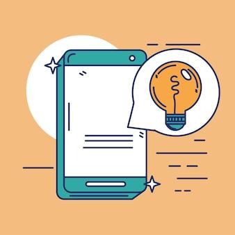 スマートフォンデバイスの創造性のアイデア漫画